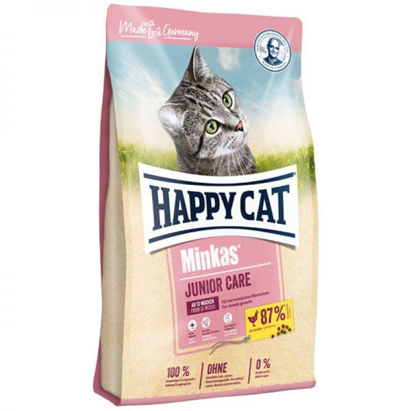 ξηρα τροφη happy cat minkas junior care pet shop online νεα ιωνια