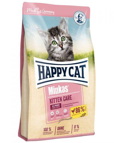 ξηρα τροφη happy cat minkas kitten care pet shop online νεα ιωνια