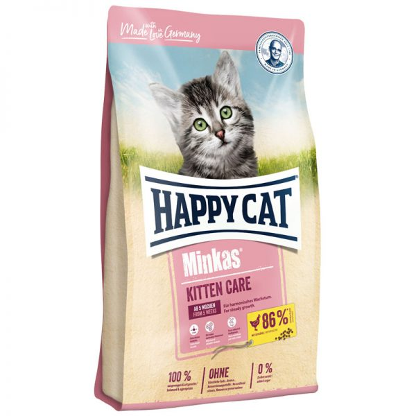ξηρα τροφη happy cat minkas kitten care pet shop online νεα ιωνια