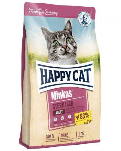ξηρα τροφη happy cat minkas sterilized adult pet shop online νεα ιωνια