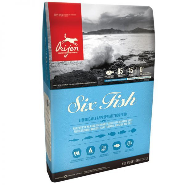 ξηρα τροφη origen six fish for dogs pet shop online νεα ιωνια