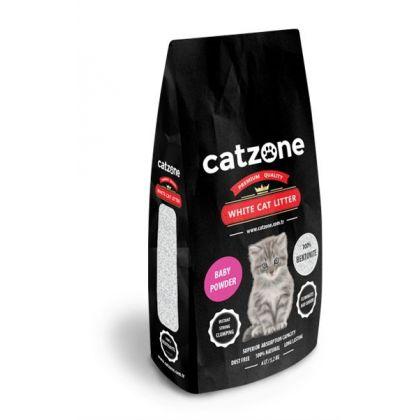 Catzone white cat litter baby powder pet shop online νεα ιωνια