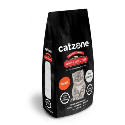 Catzone white cat litter orange pet shop online νεα ιωνια