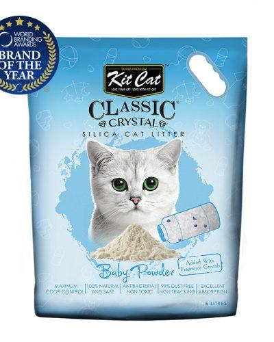 kit cat silica catlitter baby powder pet action pet shop
