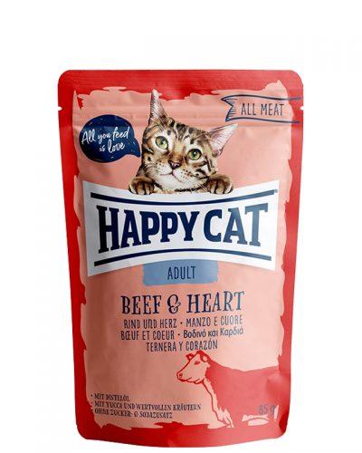 happy cat adult beef and heart pet shop online νεα ιωνια