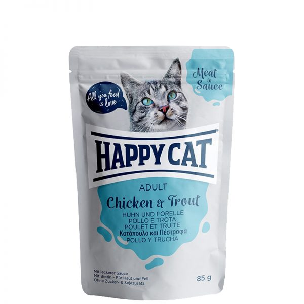 happy cat adult chicken and trout pet action pet shop