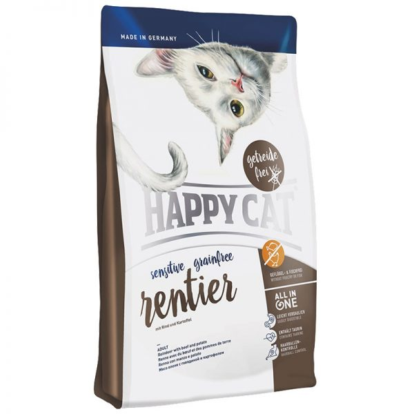 happy cat sensitive ταρανδος grain and gluten free pet shop pet action νεα ιωνια