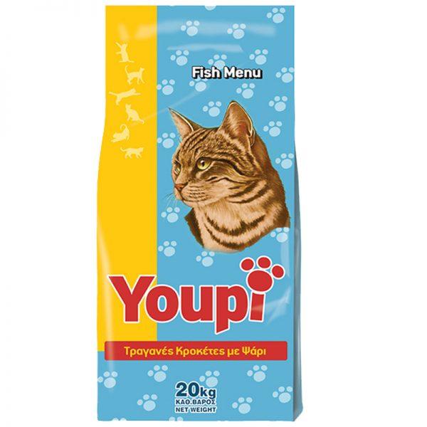 Ξηρα τροφη ψαρι για γατες youpi pet shop online νεα ιωνια