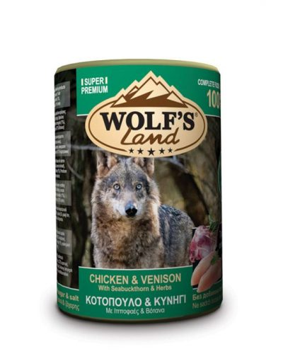 wolfs land chicken and venison pet shop online νεα ιωνια