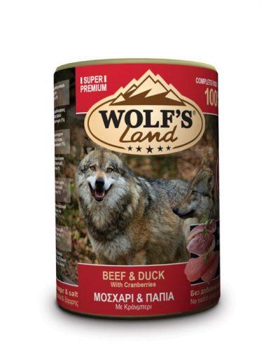 wolfs land beef and duck pet shop online νεα ιωνια