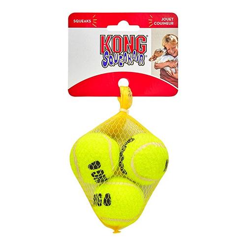 Kong – Tennis Ball Squeaker Small (3τεμ.)